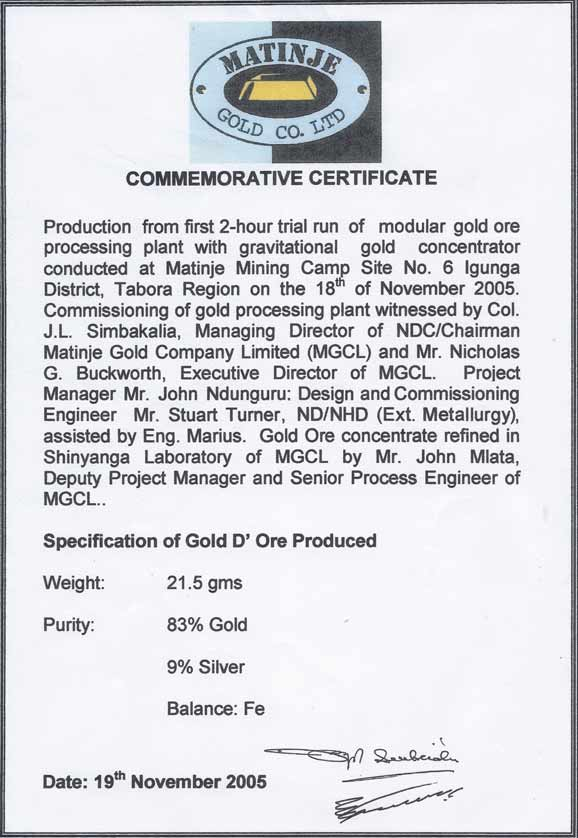 Resources gold technology modular gold plant project resources gold technology modular gold plant project commissioning certificate yadclub
